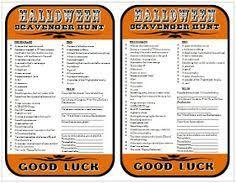 Halloween Riddles Adults by Printable Halloween Scavenger Hunt Halloween Tricks Free