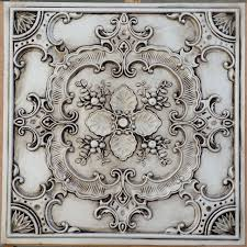 pl19 faux pressed tin finishes ceiling tiles antique white color