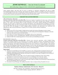 grocery store manager resume retail retail assistant manager