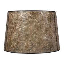 Mica Lamp Shade Company by Blonde Mica Drum Lamp Shade With Bronze Spider Assembly Sh9587