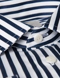 men u0027s navy u0026 white bold stripe slim fit dress shirt french cuff