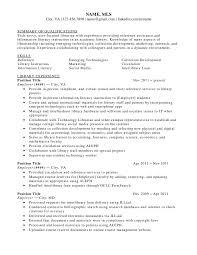Sample School Librarian Resume