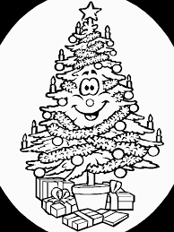 Christmas Tree Coloring Pages 7