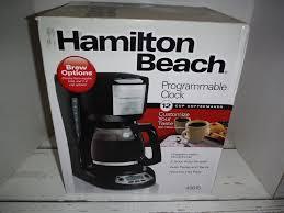 Hamilton Beach 12 Cup Programmable Clock Coffee Maker NEW EBay