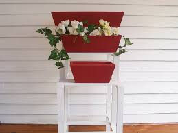 Patio Plant Stands Wheels by Wooden Pot Stand Outdoor Wagon Wheels Planter Stand Fou Buckets