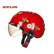 Summer Red Boys Girls Children Kick Scooter Motorcycle ZEUS Helmet With Bee Bear MOTO Electric