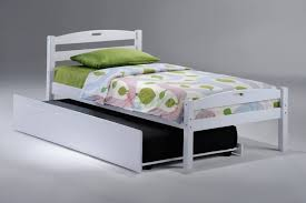 White Twin Trundle Bed — Modern Storage Twin Bed Design