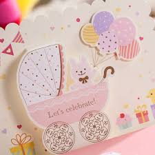 Baby Shower Cards Samples by Aliexpress Com Buy 50x Blue Pink Laser Cut Baby Shower