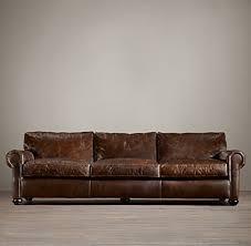 Restoration Hardware Petite Lancaster Sofa by Original Lancaster Leather Sofa