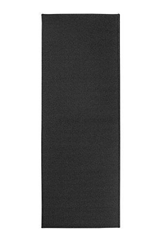 Ritz Accent Door Rug Runner with Non-Slip Latex Backing, 20-inch by 60-Inch Kitchen & Bathroom Runner Rug, Black