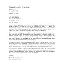 Sample Cover Letter For Writing Job A Teaching Example Teacher