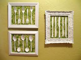 Wooden Fork And Spoon Wall Hanging by Wall Art Decor Yellow Wallpaper Framed Kitchen Wall Art