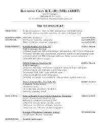 Radiology Technician Resume Tech Technologist Rt R Street Objective X
