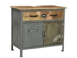 waschbeckenunterschrank pinetown grau holz metall badschrank