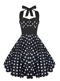 rockabilly dress pin up dress black polka dot plus size dress
