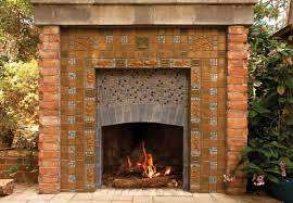 Batchelder Tile Fireplace Surround by Revival Hearths Arts U0026 Crafts Homes And The Revival