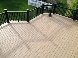Runnen Floor Decking Outdoor Brown Stained by How To Build A Deck Over Concrete Patioplastic Wood Patio Flooring