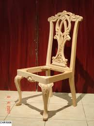 Unfinished Wood Dining Chairs In Accord With Graceful Kitchen Decor