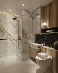 marmor cremefarbe adern dusche glas badezimmer armaturen