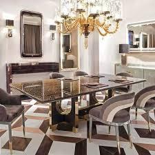 edler luxus design tisch ess zimmer wohn tische glas möbel metall modern barock