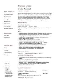 Dental Assistant Objectives Examples Resumes Objective Pic Resume