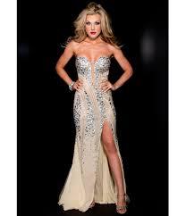 couture 2014 prom strapless u0026 silver rhinestoned prom