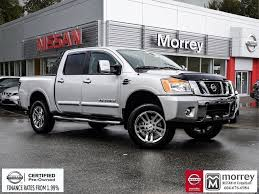 100 Nissan Titan Truck 2015 Crew Cab SL 4x4 Lift Used For Sale In Leather