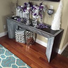 Rustic Chic Console Table Soft Modern Sofa Reclaimed Wood