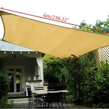 Aliexpress.com : Buy 6X4m Rectangle Sun Shade Sail Outdoor Garden ... Quictent 121820 Ft Triangle Sun Shade Sail Patio Pool Top Canopy Stand Alone Awning Photos Sails Commercial Umbrellas Carports Canvas Garden Shades Full Amazoncom 20 X 16 Ft Rectangle This Is A Creative Use Of Awnings For Best 25 Retractable Awning Ideas On Pinterest Covering Fort 4 Chrissmith Walmart Ideas Canopies Lyshade 12 Uv Block Lawn Products In Arizona