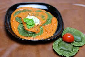 Pumpkin Ravioli Filling Ricotta by Spinach Ricotta Ravioli In Tomato Cream Sauce U2013 Pepkitchen