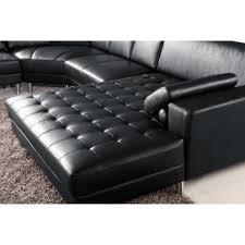 grand canapé angle pas cher grand canapé d angle panoramique en cuir noir king achat vente