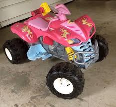 100 Monster Truck Power Wheels Best Fisher Price Hot Pink Barbie Kawasaki Kfx Atv With
