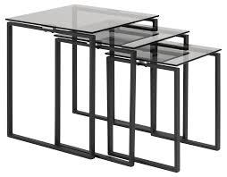 kamma glas couchtisch 3er set grau wohnzimmer beistelltisch tisch sofatisch dynamic 24 de