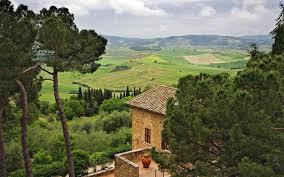 Wallpaper Pienza Tuscany Italy Hill House Villa Tree Desktop