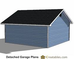 12x24 Shed Plans Materials List by 22x22 2 Car 2 Door Detached Garage Eve Over Door Plans