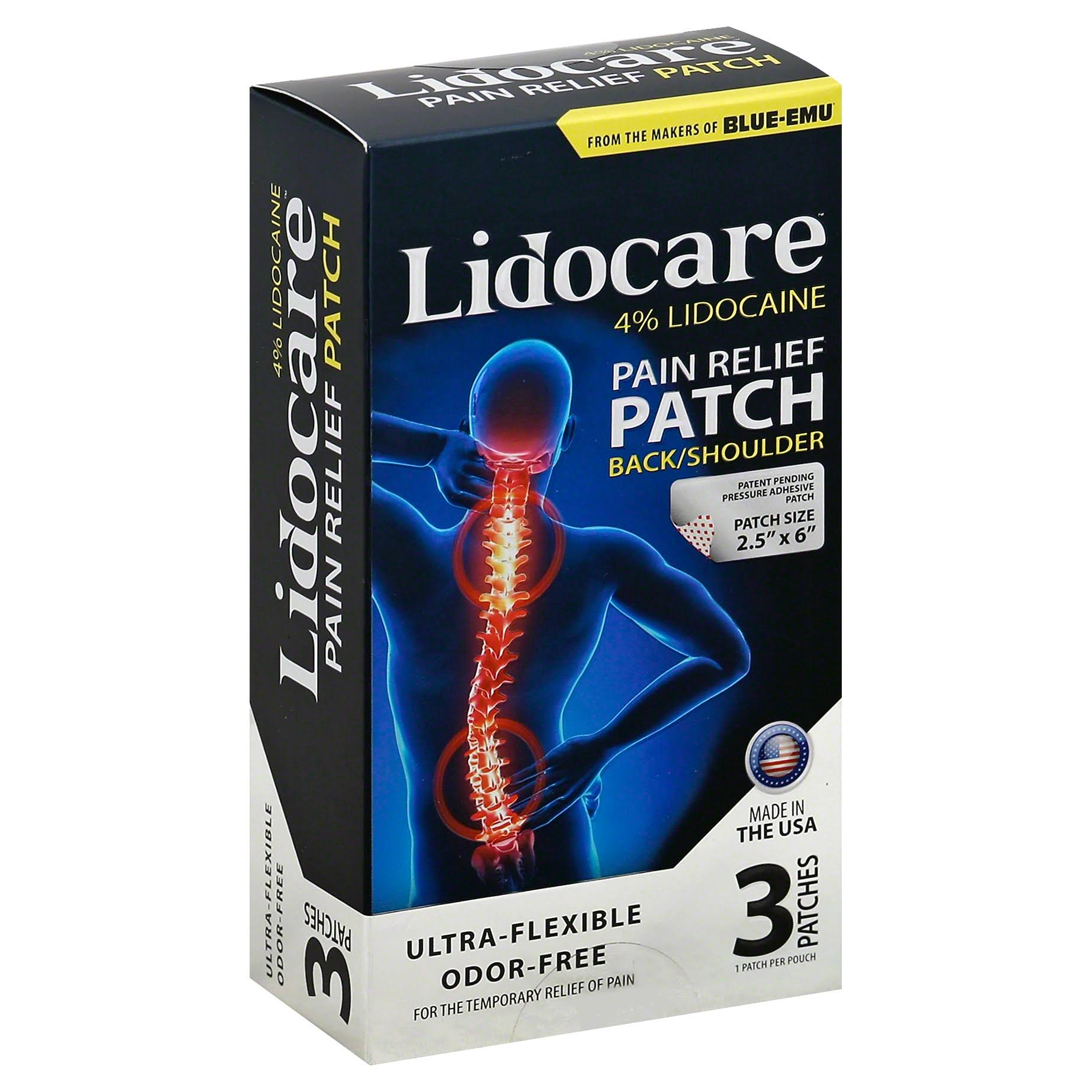 Blue-Emu Lidocare Pain Relief Patch - 3 Patches