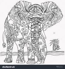 Coloring Picture Elephant 316 Best Adult ColouringElephantsZentangles Images On Pinterest