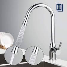 einhand wasserhahn küche ausziehbarer 360 drehung chrom armatur für spüle homelody