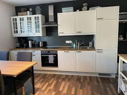 ikea faktum landhaus küche inkl e geräte weiß vollholz platte