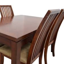 Macys Bradford Dining Room Table by 49 Off Macy U0027s Macy U0027s Wood Dining Set With Extendable Leaf And