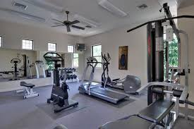 Winning Interior Affordable Workout Station Home Gym With Modern Treatmill Bike In Cool Fitness Room Design Enjoyable Ideas