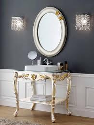 casa padrino luxus barock badezimmer set silber gold 1 waschtisch 1 wandspiegel badezimmer möbel im barockstil edel prunkvoll