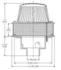 watts rd 100 85 irma roof drain specs