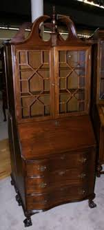 mahogany serpentine front secretary desk this would match that