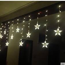 3 0 6m120 Lights 12 Pointed Star Cut Window Decoration Curtain