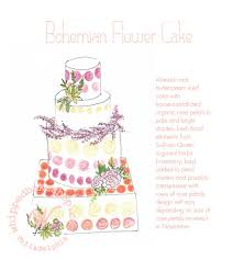 Can d Rose Wedding Cake Sketch by Whipped Bakeshop