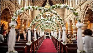 Wedding Church Decorations With An Elegant Impression 20