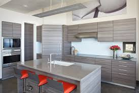 Inspiring Contemporary Kitchen Diner With Orange Gray Adsjustable