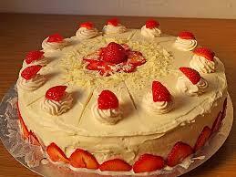 weiße schoko erdbeer torte