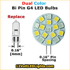 g4 12 volt led bi pin bulbs 2 pins